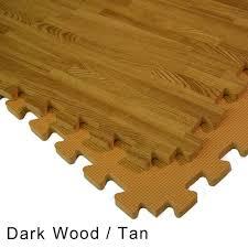 wood grain reversible interlocking foam floor