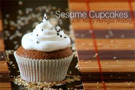 sesame cupcakes with honey meringue frosting guest post by t and