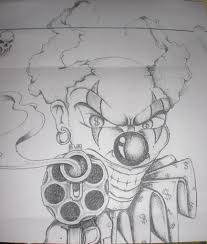 evil clown tattoo sample in 2017 real photo pictures images and
