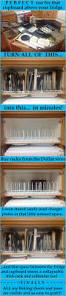 Organising Kitchen Cabinets by Dollar Store Dish Racks To Separate The Pans And Lids In A Cabinet