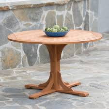 48 In Round Dining Table Belham Living Brighton Outdoor Wood Extension Patio Dining Set