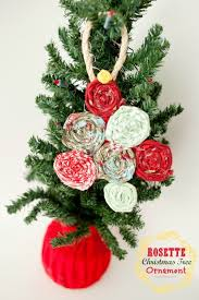 fabric rosette tree ornament tree ornaments
