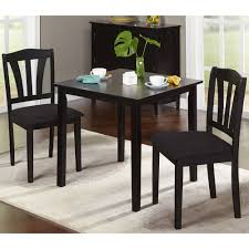 Black Wood Dining Room Table by Metropolitan 3 Piece Dining Set Multiple Finishes Walmart Com