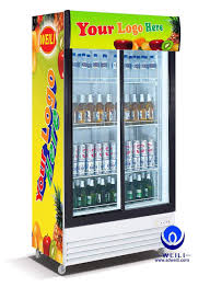 electric visi cooler display cabinet vertical commercial