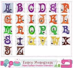 halloween monogram az appliquehalloween letters