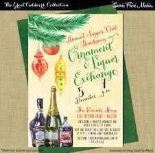 holiday liquor exchange invitation christmas ornament