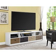 altra furniture mercer white and multi color storage entertainment