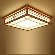 plafonnier pour chambre mmynl plafonnier suspension pour chambre à coucher en bois massif
