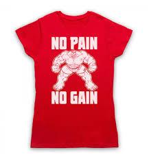pain no gain bodybuilding womens clothing