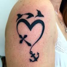 100 heart cross and anchor tattoo anchor and heart tattoo