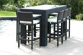 patio furniture bar stools and table bar height table and stools patio furniture bar table image of