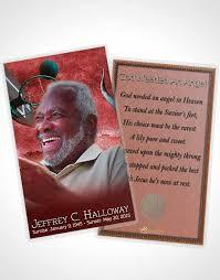 obituary card template