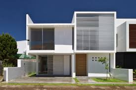 cubic home in wooden interior facade modern white cubic house with
