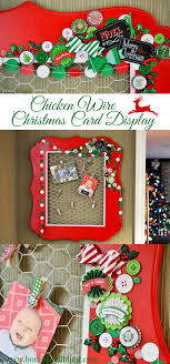 christmas card display holder chicken wire christmas card display