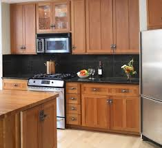 awesome kitchen backsplash cherry cabinets black counter interior