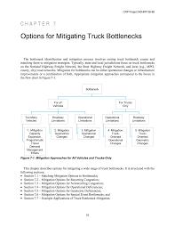 chapter 7 options for mitigating truck bottlenecks guide for