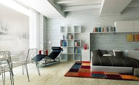 house white flat brick wall tiles for teenage bedroom decorating