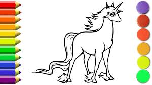 how to draw unicorn coloring pages learn drawing for kids