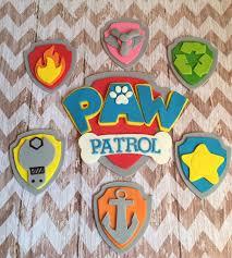 Paw Patrol Cake Decorations Large Fondant Paw Patrol Cake Cupcake Decorations