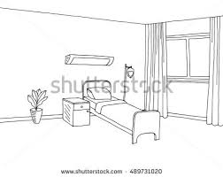 sketch bed element vector download free vector art stock