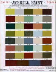 shades of the past victorian house paint color sample cards