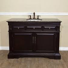 home 50 inch single bathroom vanity baltic brown marble top