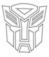 Autobot Transformers Coloring Page Coloring Pages Pinterest 6294 Transformer Color Page