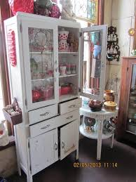 Super Hutch Super Sweet 1950 U0027s Kitchen Cupboard Glass Doors Up Top With A Red