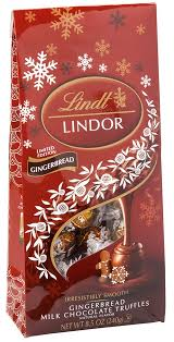 lindt gingerbread christmas milk chocolate truffles 8 5oz