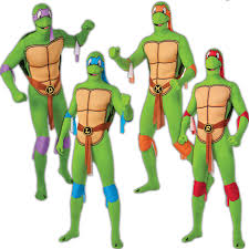 Michelangelo Ninja Turtle Halloween Costume Adults Mens Teenage Mutant Ninja Turtles 2nd Skin Lycra Fancy