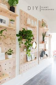 Diy Interior Design Ideas by Giant Pegboard Diy Diy Shelving Shelving Ideas And Decorate