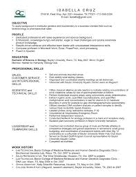 Sample Biotech Resume by Biotechnology Resume Resume For Your Job Application