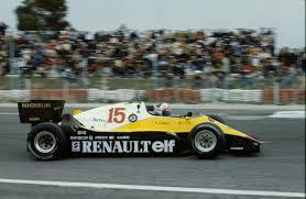 1983 re 40 formula 1 and alain prost équipe renault elf