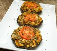 harvest stuffed portabello mushrooms vegetarian thanksgiving