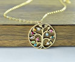 mothers day birthstone necklace gold family tree necklace s necklace birthstone