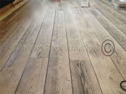 choice of beautifully grained wooden flooring from reclaimed timber
