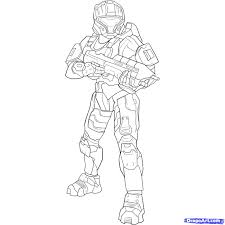 how to draw a halo spartan step by step video game characters