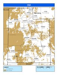 Escalante Utah Map by Noaa Weather Radio Utah