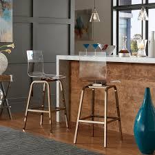 Bar Stool Sets Of 2 Inspire Q Clear Acrylic Swivel Bar Stools Set Of 2 Free