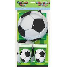 soccer party supplies soccer party tableware kit for 8 childrens party