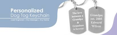 laser engraved dog tags dog tag keychain