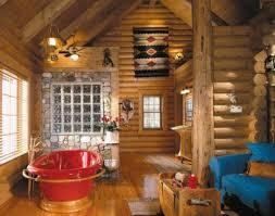 Log Home Decor Best Log Cabin Interior Design Other Bedroom Living Room Of