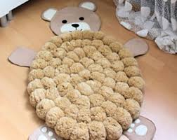 pom pom rug sheep rug bohemian rug kids rug pompom rug