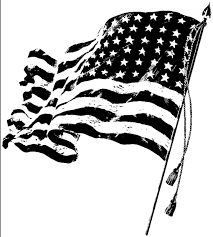 Usa Flag Vector American Flag Black And White Vector Clipart Collection