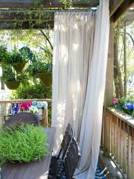 garten balkon als sichtschutz eignen sich vorhänge sehr gut balkon