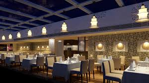 luxury restaurant with high end wall decor 3d model max