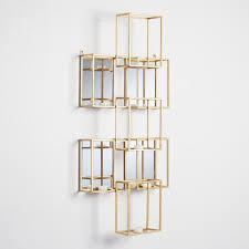 Mirrored Wall Sconce Squares Mirrored Wall Sconce