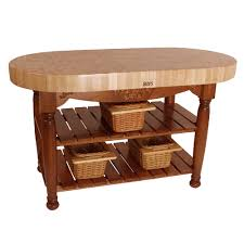 Oval Kitchen Islands Kitchen Islands U0026 Tables Oval Maple Top Kitchen Island With
