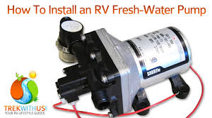 how to install a shurflo fresh water pump rv diy youtube