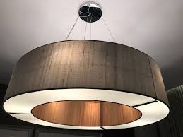 dar ceiling pendant light fittings taupe silk rrp 678 in